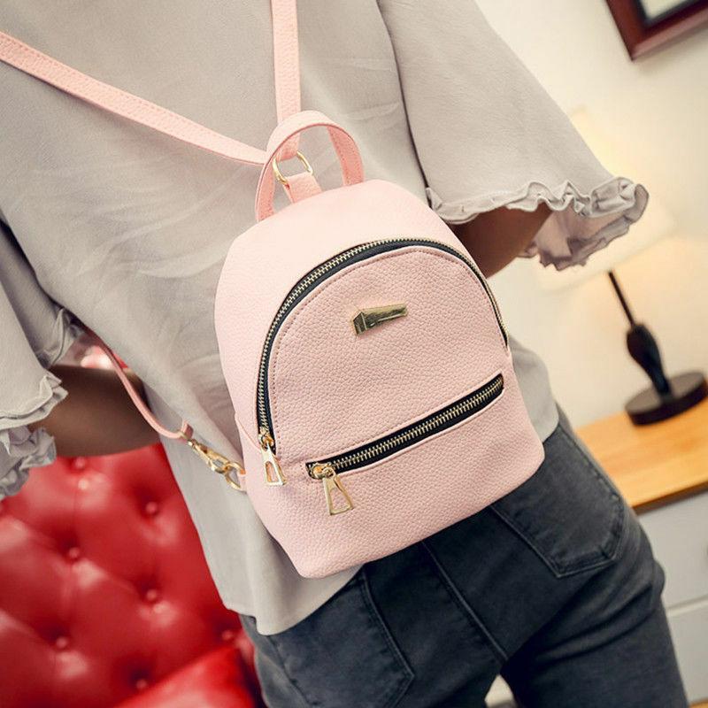 أزياء المرأة البسيطة الظهر PU جلدية كلية الكتف حقيبة الظهر مدرسة بنات السيدات عارضة mochilas حقيبة السفر موهير