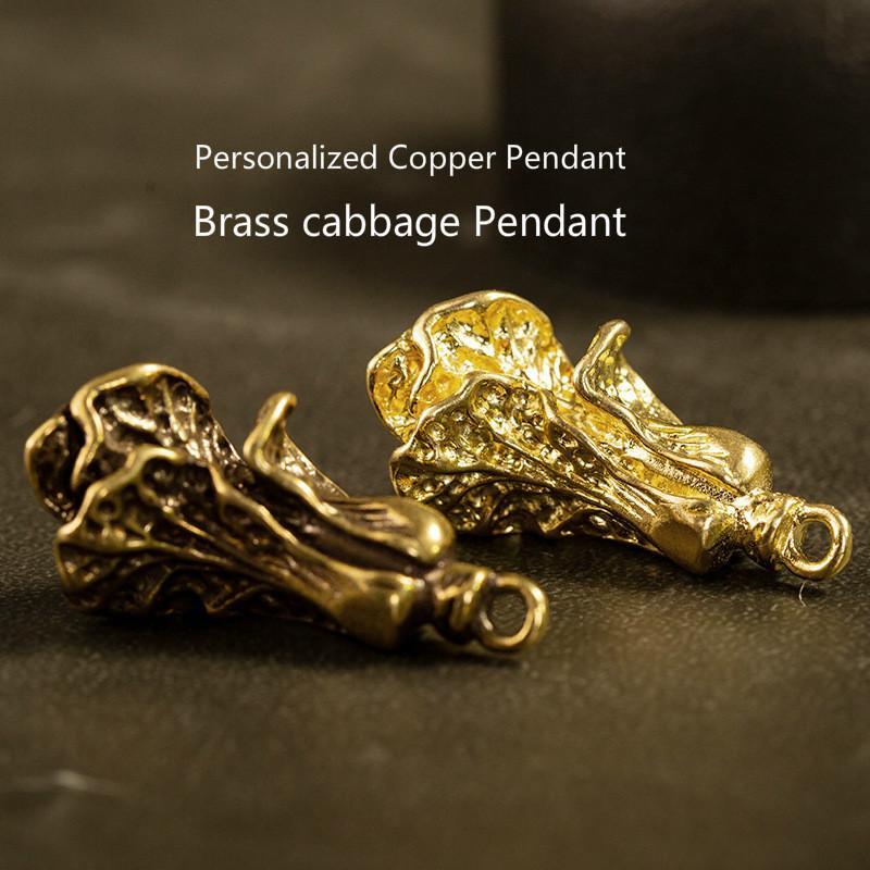 100% Messing Artificial Refined Kohl glücklicher hängendes traditionelles Charme Art und Weise kreatives Kupfer Handwerk Paar Schlüsselanhänger Großhandel