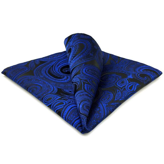 BH7 해군 페이즐리 실크 남성 포켓 스퀘어 패션 클래식 브랜드의 새로운 손수건 웨딩 손수건