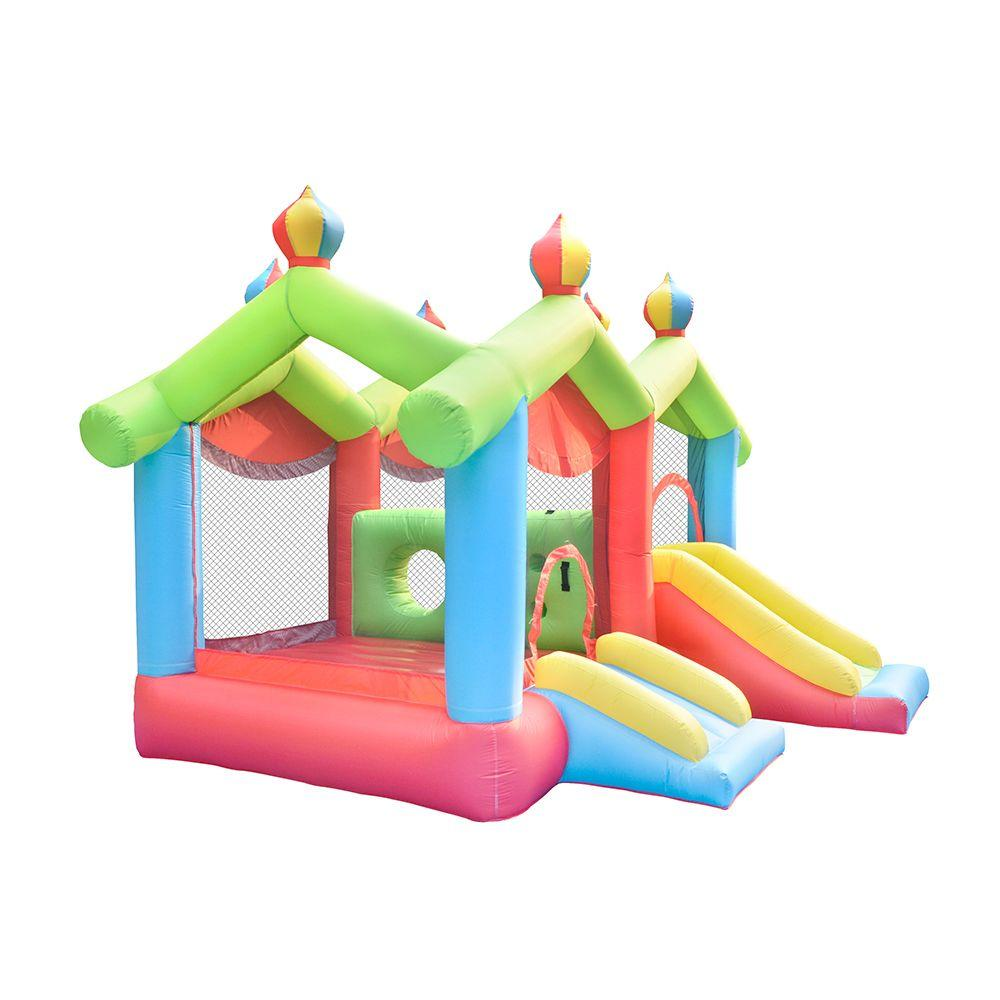 Commercial Kids Playhouse Dual Bouncer Slides Double Bounce House With Slide Garden Playhouse Castle Combo with Dual Slides