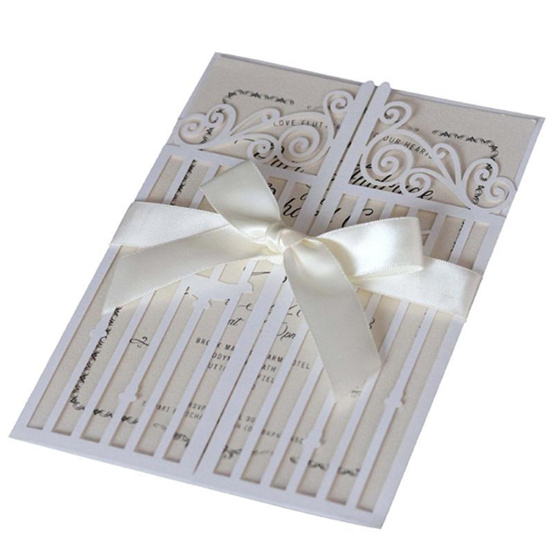 Novos Cartões de Convites de Casamento Gates Of Happiness Unique Hollow Favores do casamento Convida Cartões Por DHL Entrega Rápida Venda Quente