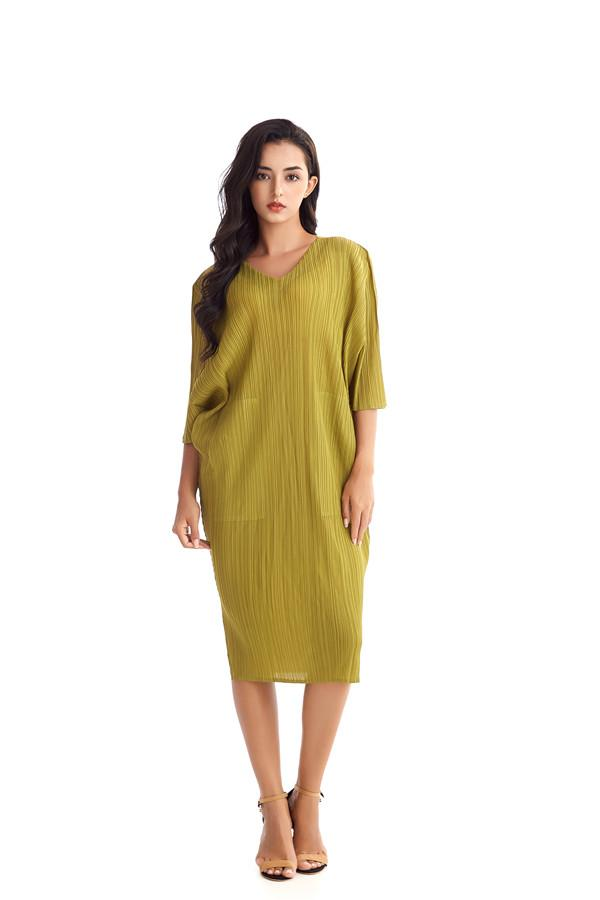 2020 new Party Dresses Luxury women Ladies Fold Fashion Leisure Business Party Show Chiffon Loose Dress Best Choice in Summer free size 321