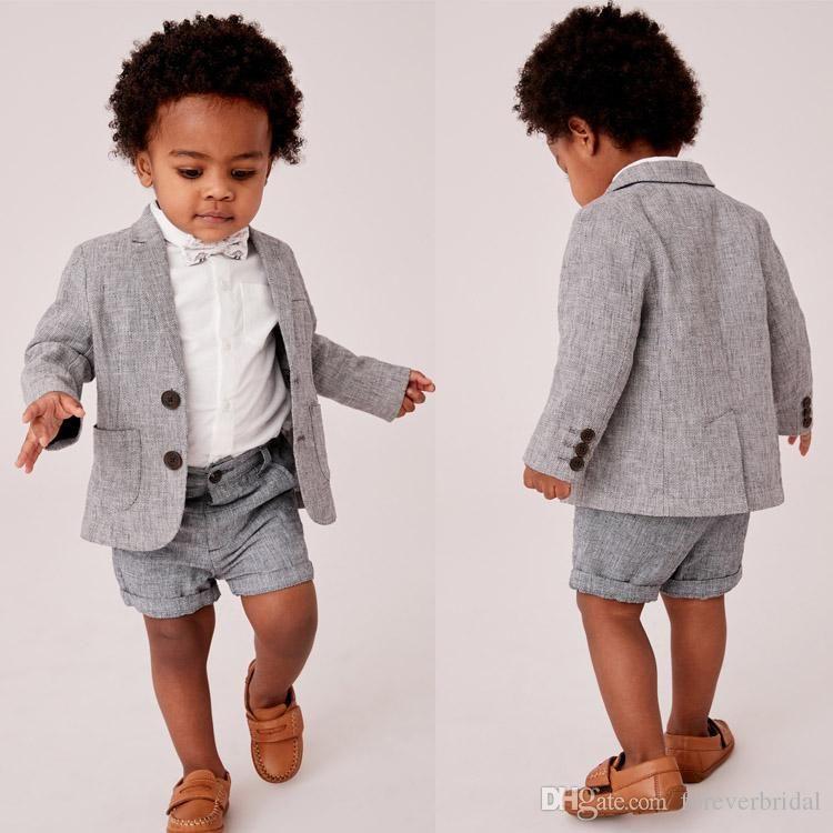 Summer Baby Infant Boy Designer Clothes Handsome Boy's Formal Suits For Wedding Prom Dinner Children Wear(Jacket+Pants)