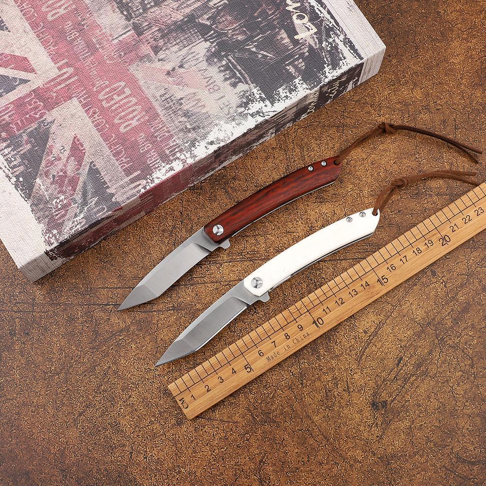 Бесплатная доставка складной нож 14C28N лезвие корова кости ручка на открытом воздухе кемпинга тактический спасательные самообороны EDC карманный нож