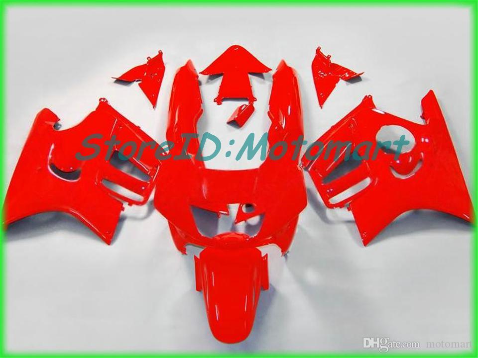 Kit carénage de moto pour HONDA CBR600F3 97 98 CBR 600 F3 1997 1998 ABS rouge argent noir Ensemble carénages + cadeaux HH23