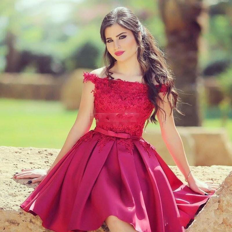 2020 Charming Dark Red Prom Dresses Off the Shoulder Lace Satin Formal Party Gowns Sleeveless A-Line Plus Size Cheap Dresses Evening Wear