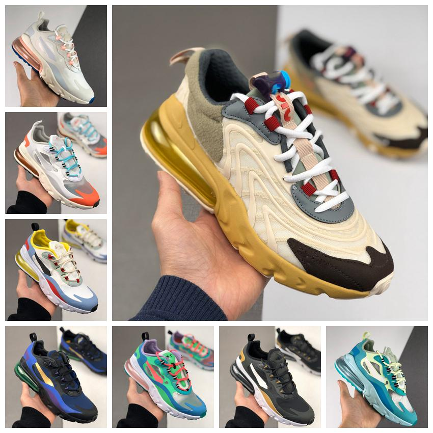 New 270 React ENG Travis Scott Cactus Trails White Black Air Mens Running Shoes For Women 270s Trainers Sports Sneakers Size 36-45 Maxes