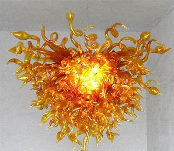 Livraison gratuite 100% soufflé bouche borosilicate moderne créative incroyable mariage de style en verre de Murano Centerpiece d'or Lustre Lumière