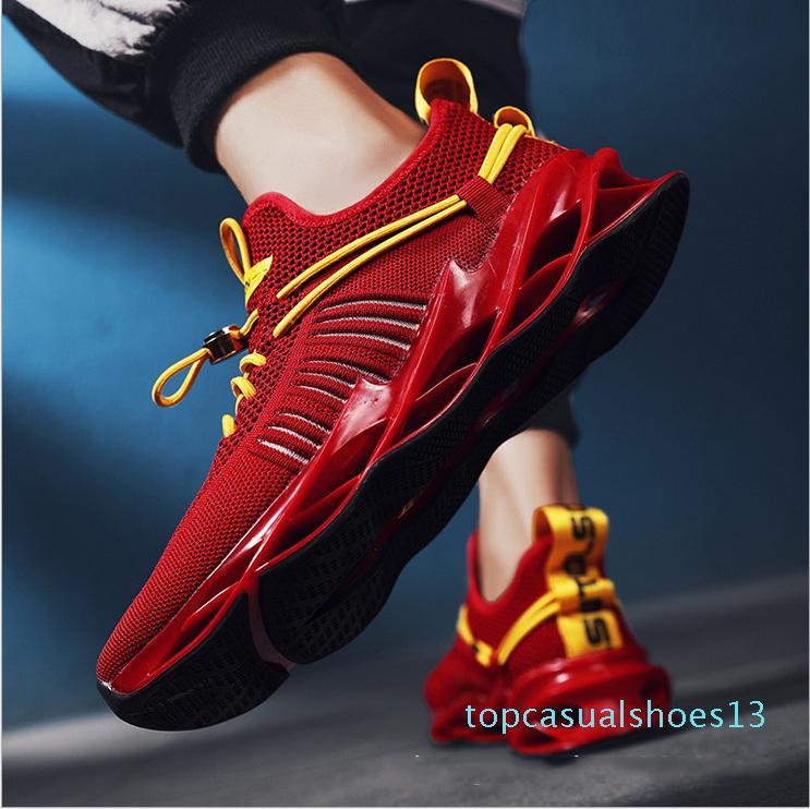 2020 Новая марка мужчины дышащий вскользь ботинки черные белые красные модные мужские тренер мужчин спортивные спортивные тапки размер 40-44 t13