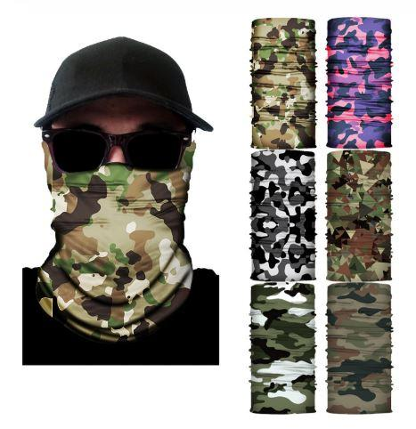 500PSC/New Outdoor Bandana Scarf UV Cut Camo Sport Men Magic Scarf Headwear Bicycle Ski Fishing Face Mask Cycling Neck Scarf