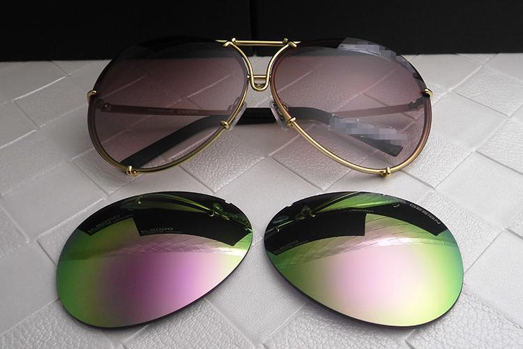 Atacado-eyewear homens mulheres moda P8478 cool verão estilo óculos polarizados óculos de sol óculos de sol 2 conjuntos de lente 8478 com casos