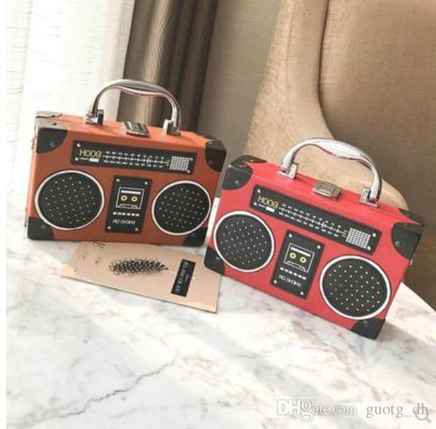 New Personality Radio Single Shoulder Bag Trend Creative Hundred Sets of Mini box Bag Slanting Women Summer Handbag