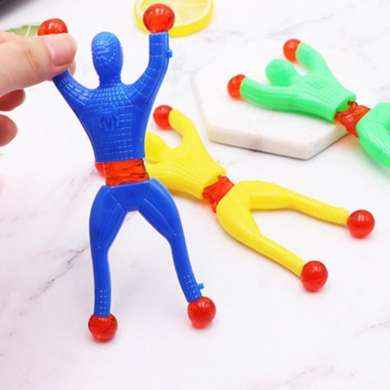 Novelty Sticky Wall Climbing Flip Spiderman Climber Classic Toys Kids Gifts