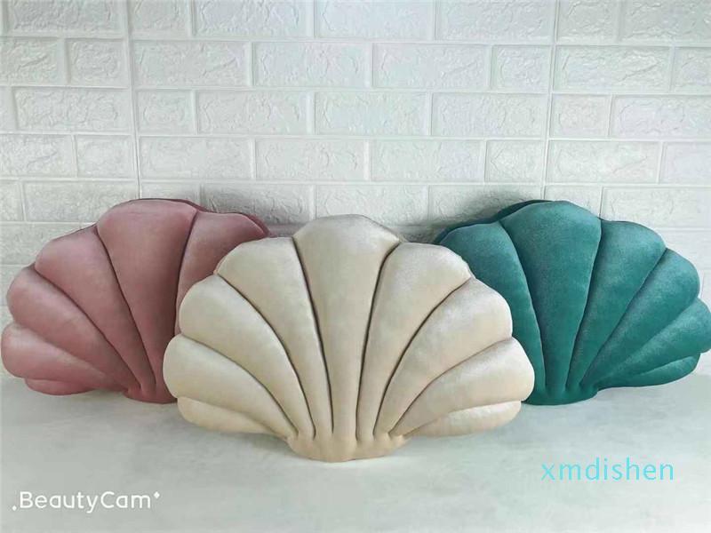 53 * 35 centímetros Shell Almofada New Style bebé e criativa almofada do sofá Moda Decore Pillow Rosa Verde Azul Champagne