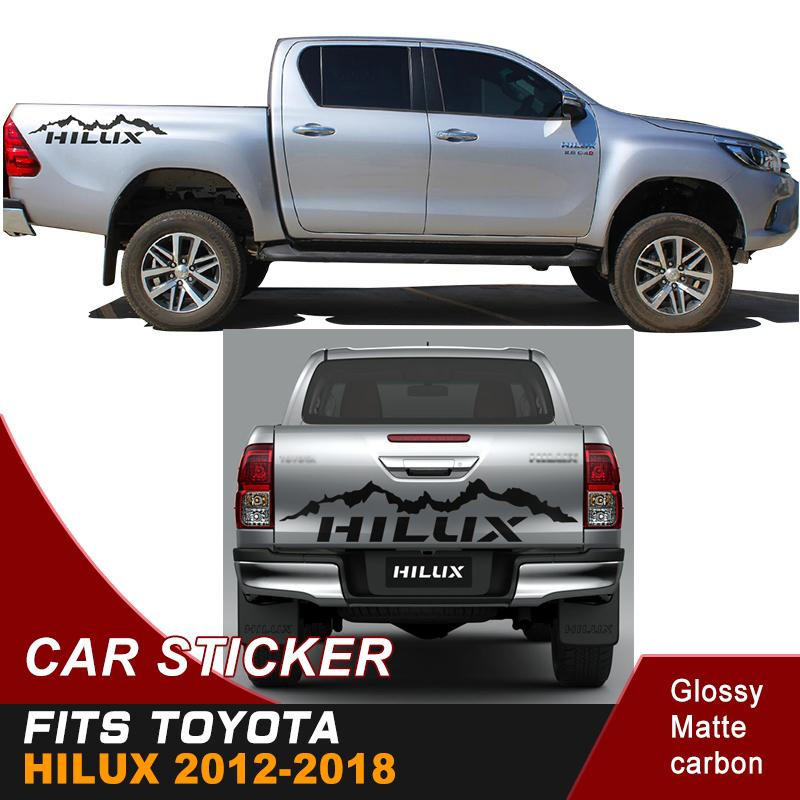 freier Verschiffengebirgsautoaufkleber 4x4 weg von den Straßenvinylgrafiken für Toyota hilux revo und vigo