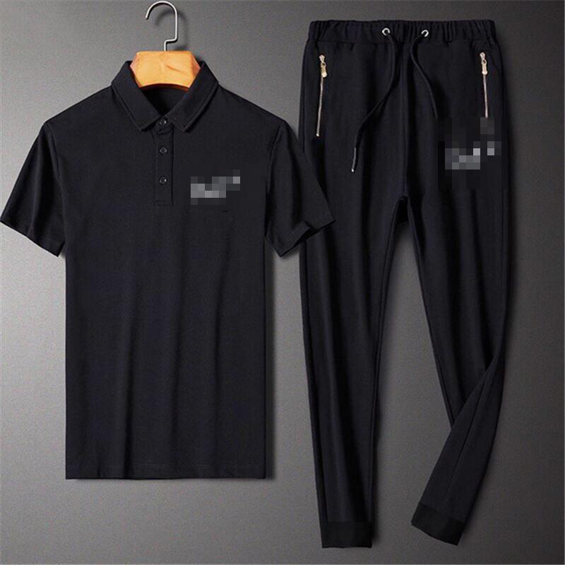 2020 del progettista del Mens Tute Marca Lettera pirnt Abiti di moda casual di lusso pantaloni maniche corte Polo + Long Kit in corso Tuta 2062801V