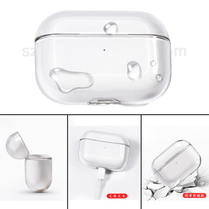 For Airpods Pro Case Slim Clear Hard Pc Cover Portable Transparent