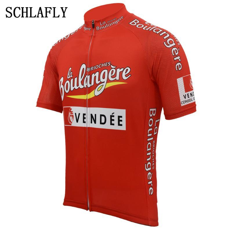 vendee retro red cycling jerseys summer short sleeve bike wear jersey road jersey cycling clothing schlafly top