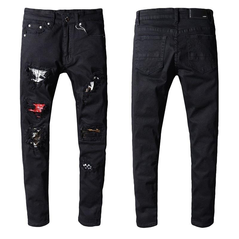 2020 designer france High street tide Amir jeans Top quality Amiri hip-hop hole fashion jeans little feet jeans European and American # 5222