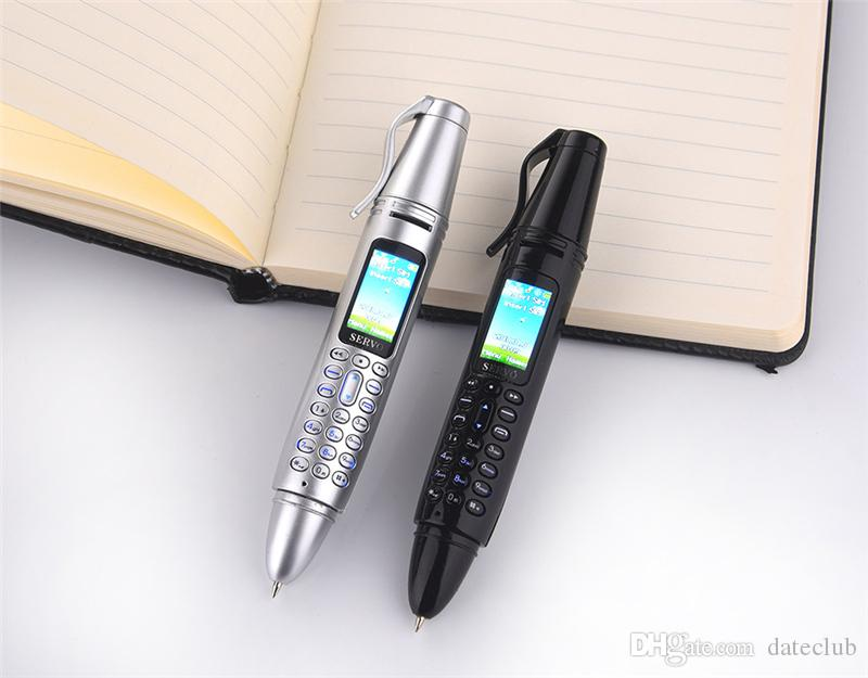 "2019 New SERVO K07 Recording Pen Mini Cellphone 0.96"" Tiny Screen GSM Dual SIM Camera Flashlight Bluetooth Dialer Mobile Phones"