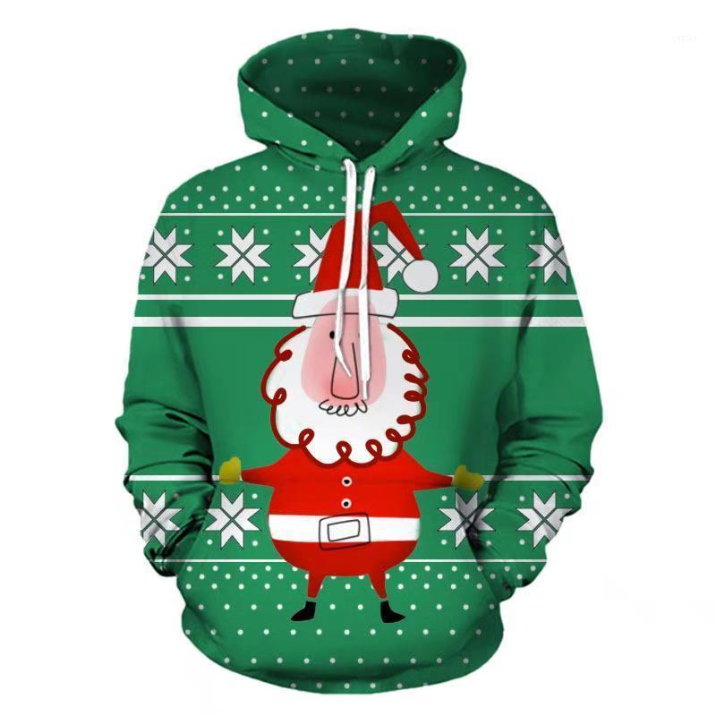 Blumendruck Homme Festival Kleidung Mode-Art-beiläufige Kleid Weihnachten Mens Herbst Designer Grün Hoodies Pullover Langarm