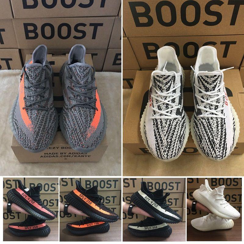 2020 zapatos corrientes de PK Nueva patternShoes Kanye West Hombres Mujeres V2 zapatillas de entrenamiento deportivo zapatillas de deporte 36-46 eur