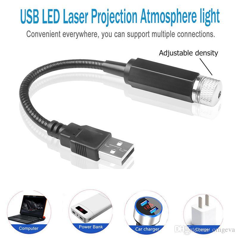 Mini USB Luz portátil para el coche PC portátil Luz Ambiente