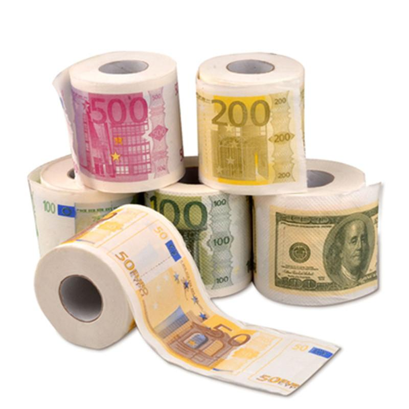 2020 Creative Toilet Paper Personality US Dollar Coin Design Flower Paper Package Mail 6 Rolls Free Ship