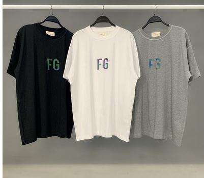 Alta calidad 3M reflectante FG camiseta impresa de color sólido simple de manga corta ocasional del verano tee Calle Hombres camiseta de las mujeres