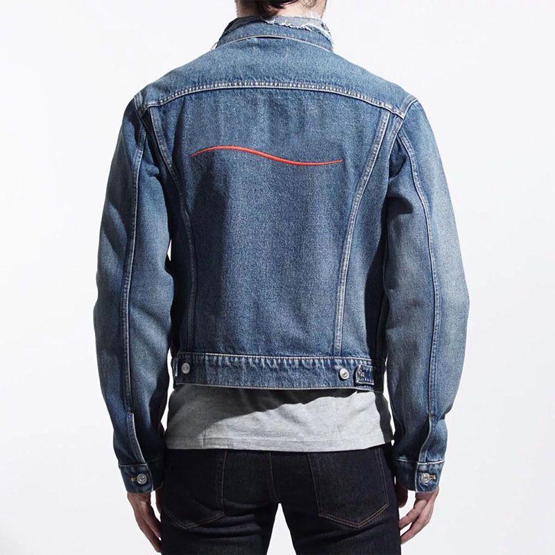 19ss Джинсовая куртка Мужчины Женщины высокого качества вскользь пальто черный синий Мода Мужские Стилисты куртки Мужская одежда Размер M-XXL