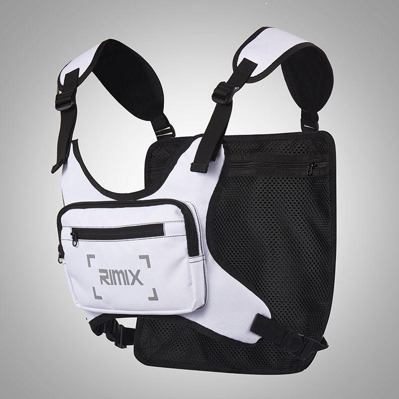 Hommes gilet Pochette mâle Sac à dos réfléchissant Pack tactique Femmes Les sacs de téléphone Sac de mode Coffre Multifonctional Nouvelle bande de sport Hjidb