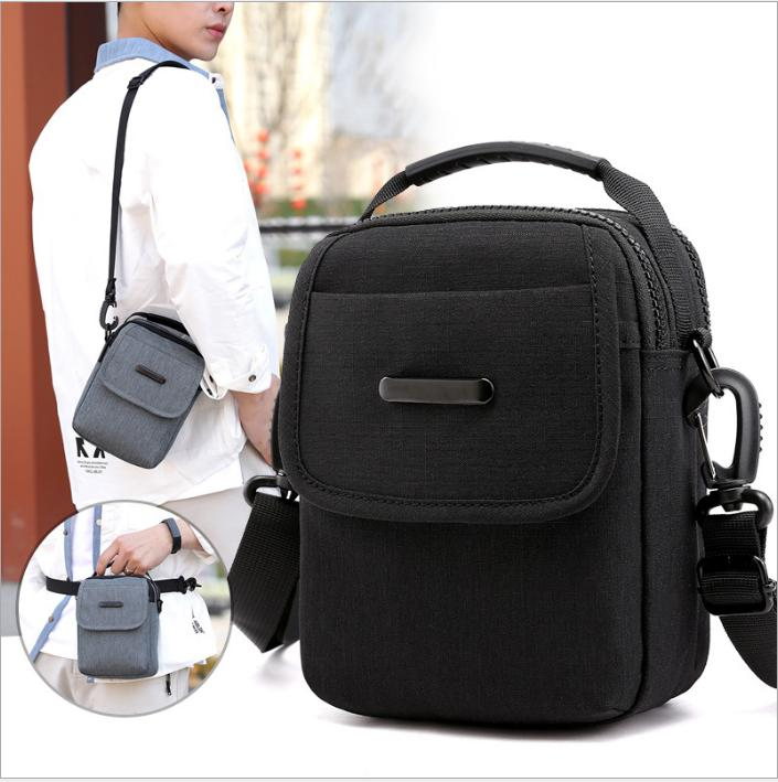 Men Canvas Outdoor Sport Sling Shoulder Small Bag Crossbody Chest Pack Backpack