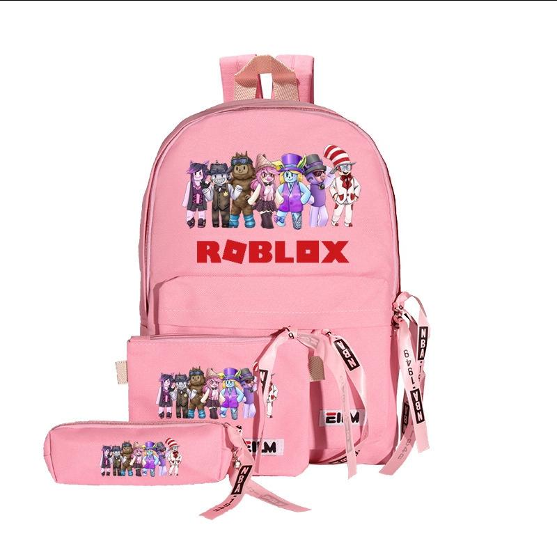 2020 Roblox Backpack With Pencil Case Satchel Game Fans Gifts