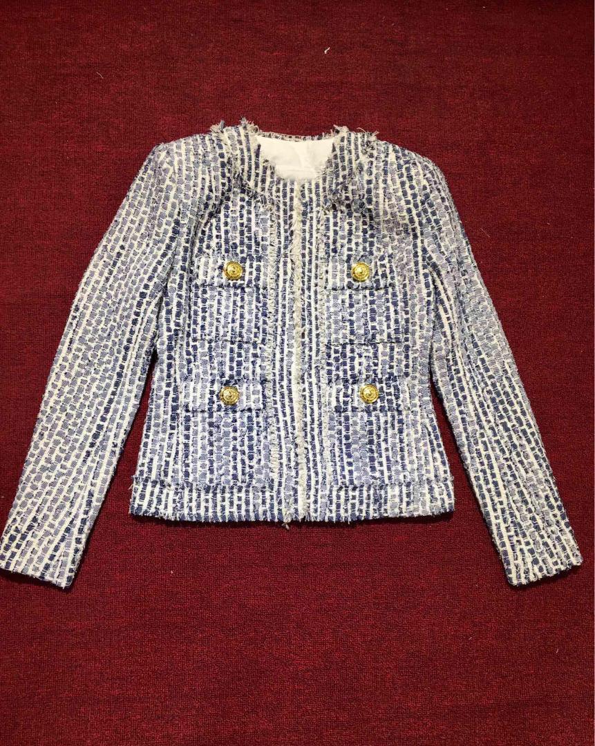 2019 высокое качество осень новый женский двубортный пиджак пальто RMSX 7,15