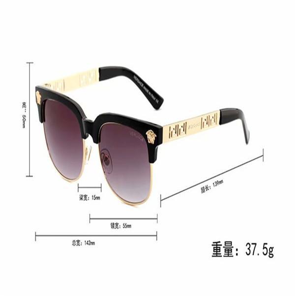 2166 newLuxury- Yüksek Kaliteli Klasik Pilot Güneş Tasarımcı Marka Womens Güneş Gözlük Gözlük Metal Cam Lensler