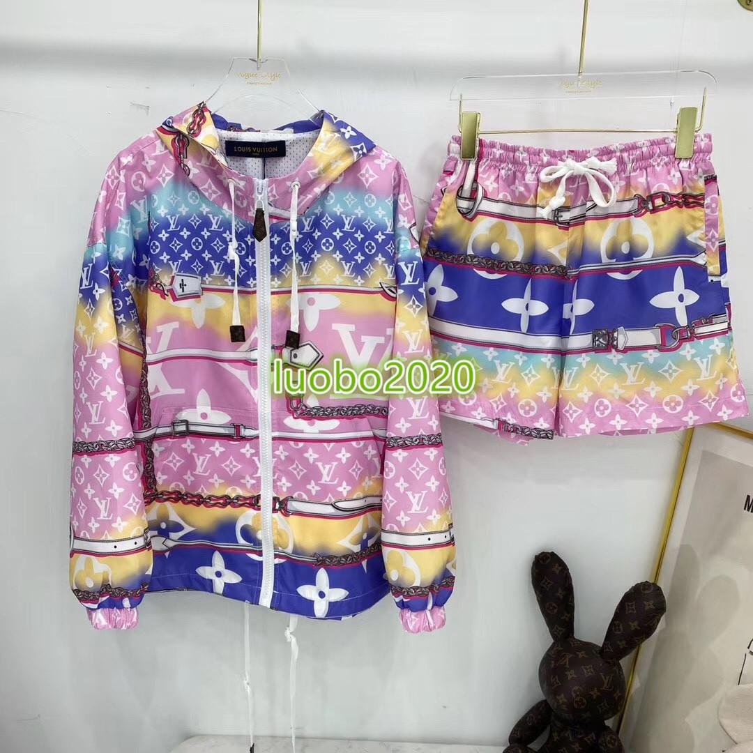 de gama alta de las mujeres niñas camiseta Activewear pantalones cortos para correr gran tamaño letra del monograma sudadera chaqueta con capucha legging chándal de diseño