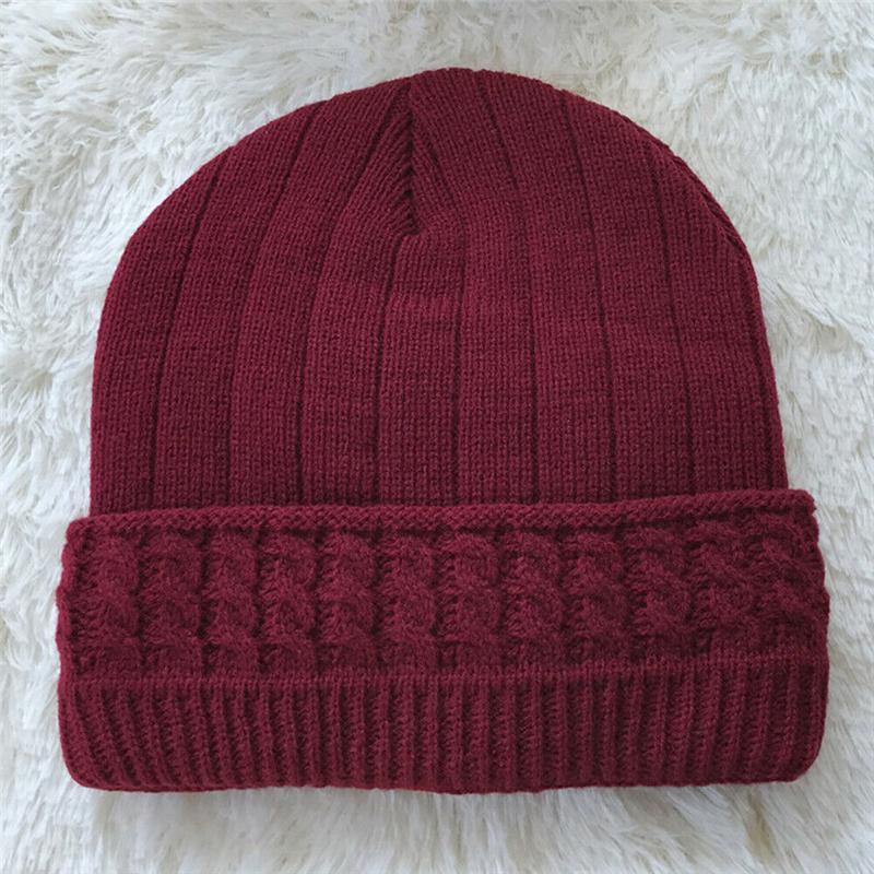 Женщины Мужчина Зима Hat Теплая Повседневный вязаная шапочка Тепловой Beanie Cap