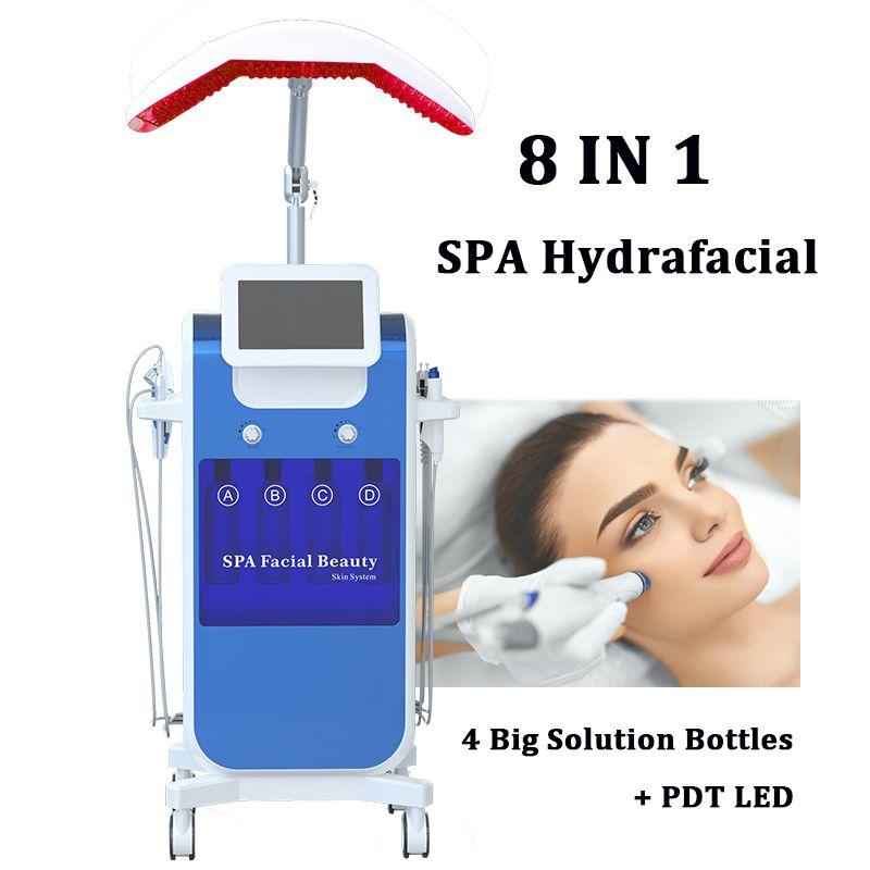 Spa aqua clean hydra facial machine Profundamente exfoliación de la piel hidrafacial MD LED spray de oxígeno Hydra máquinas de dermoabrasión facial