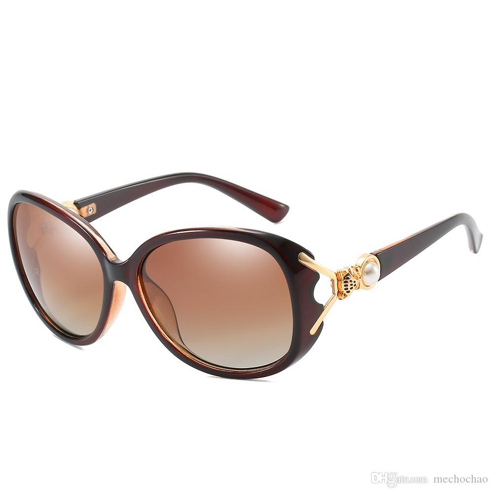 2019 Высококачественные женские солнцезащитные очки Марка дизайнер женские солнцезащитные очки с металлическим перламутровым обрамлением Фокс голова дизайн пляж защитные очки UV400 женский