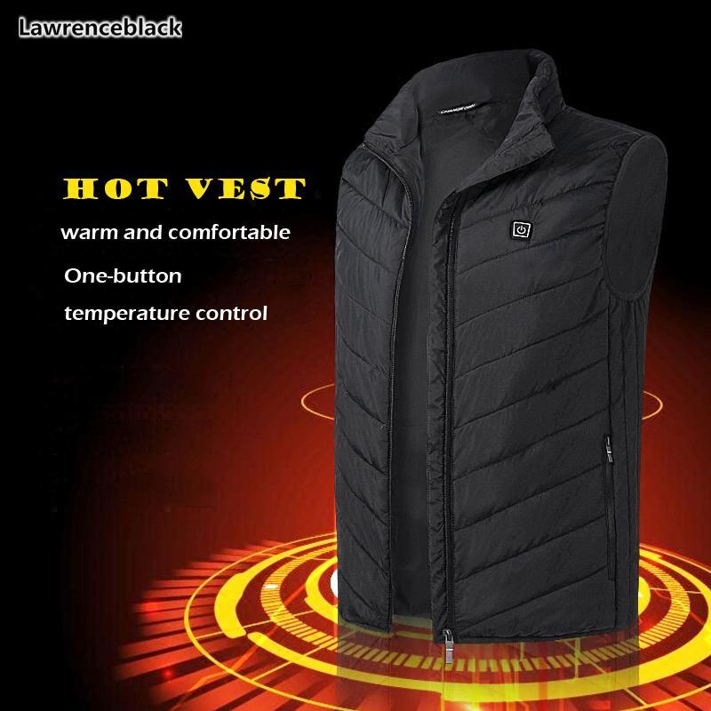 Novos coletes Homens Mulheres aquecida elétrica Vest Aquecimento Colete USB térmicas colete de pano Hot Sale jaqueta de inverno homens homens quentes 6564