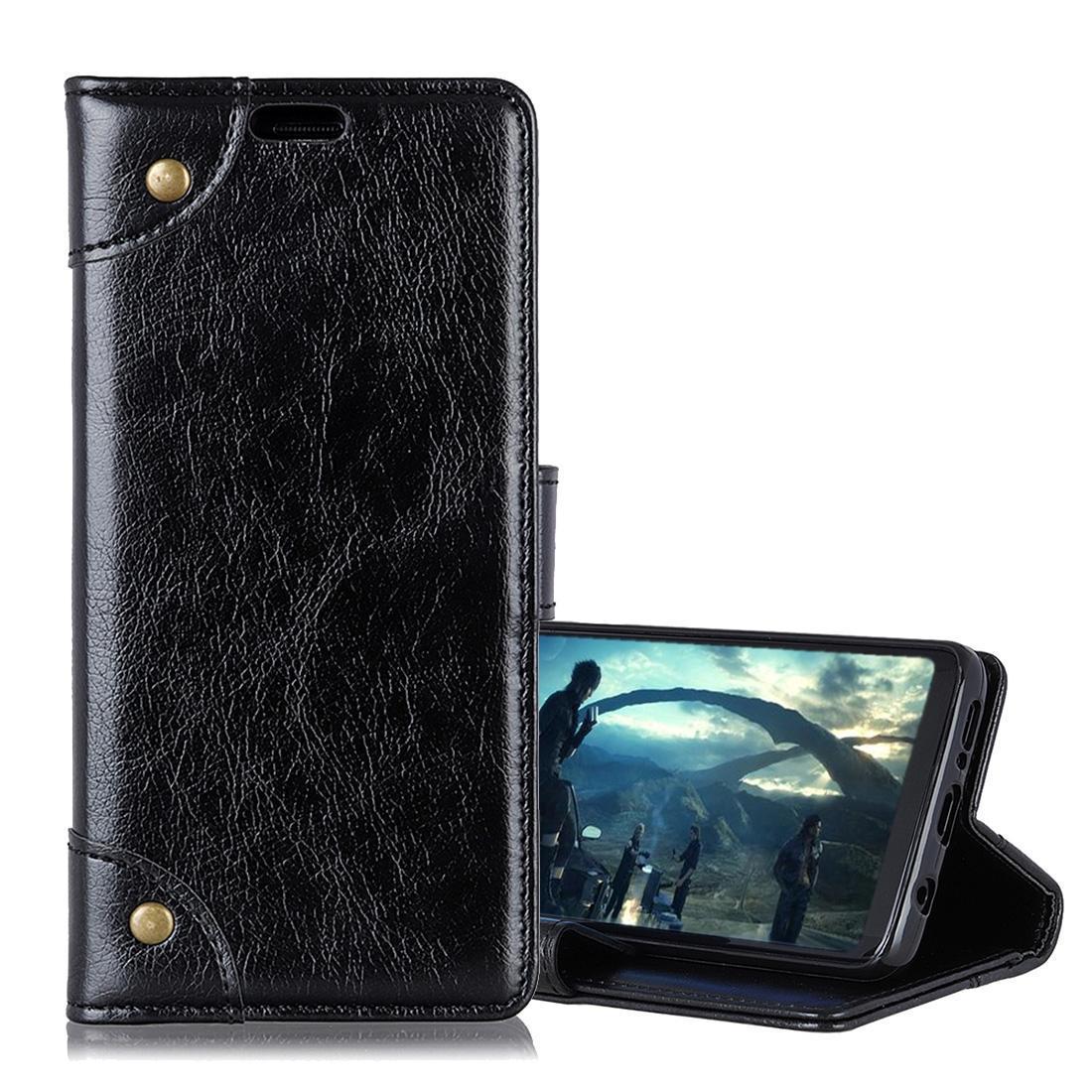 Hebilla de cobre Nappa Textura Horizontal Flip funda de cuero para Huawei compañero Lite 20, con el titular de la tarjeta Monedero ranuras
