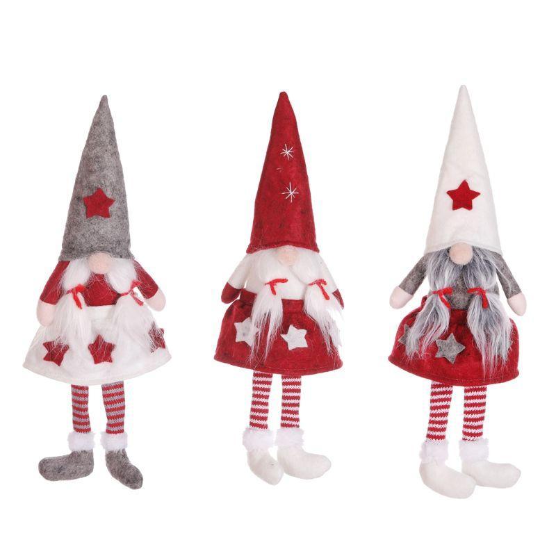 Embroma el regalo de la decoración Feliz Navidad sueca gnomo de Santa muñeca de la felpa del ornamento Chica Elf Juguetes Casa Fiesta
