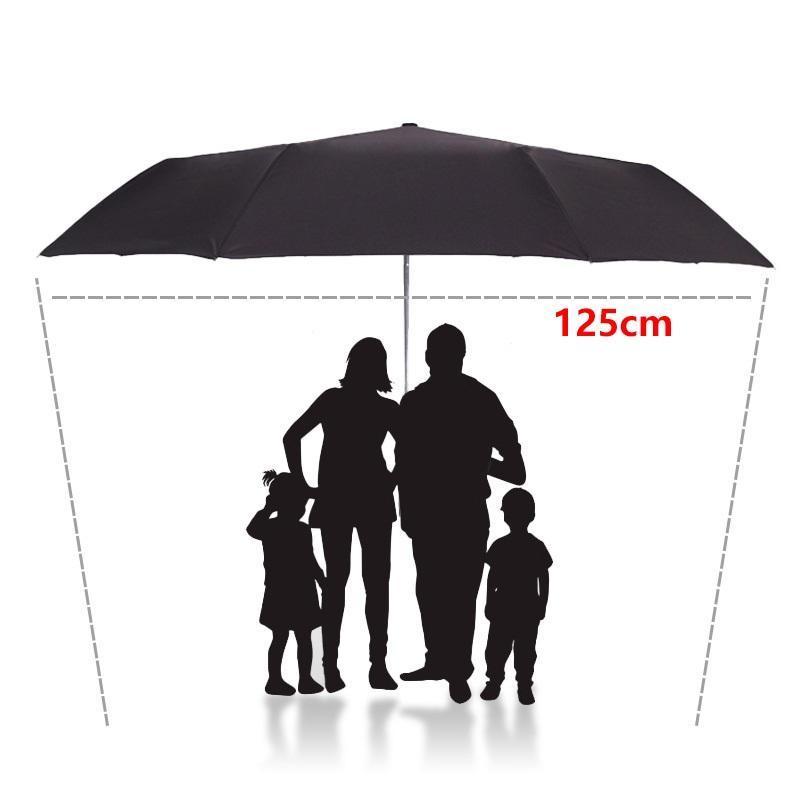 2019 125CM Windproof Automatic Umbrella For Men Large Folding Umbrella Rain Woman Double Golf Business Automatic Car Umbrellas