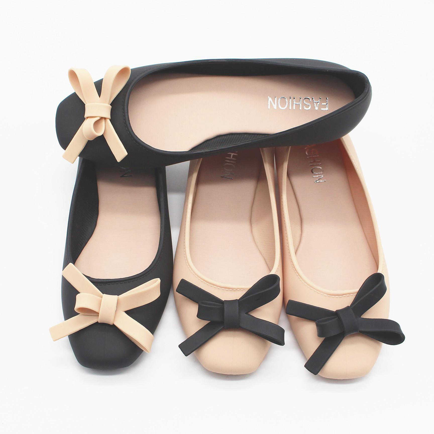 Hot vente-nouveau printemps et automne dans la bouche peu profonde de faible all-match chaussures imperméables mode jelly chaussures loisirs ladies sandales en plastique