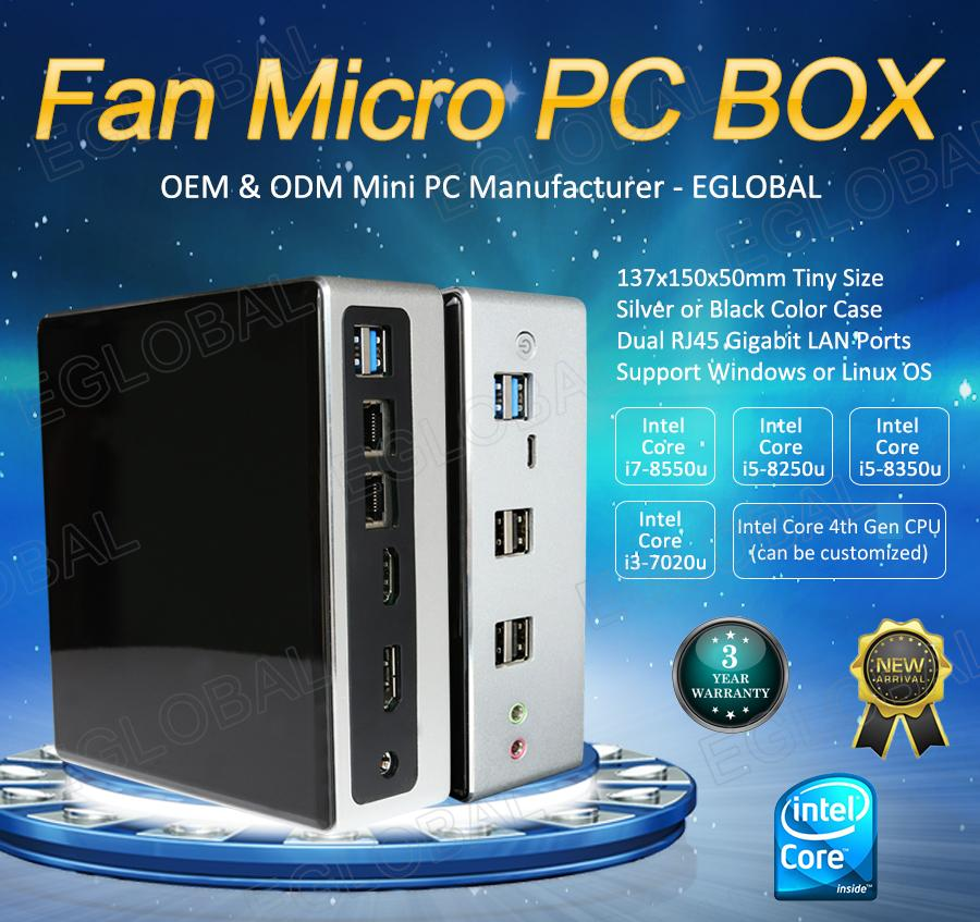 EGLOBAL New 8ª Chegada Gen JOGO MINI PC Core i7 8550U 32GB DDR4 M.2 NVMe SSD do Windows 10pro mini-Nuc computador pc