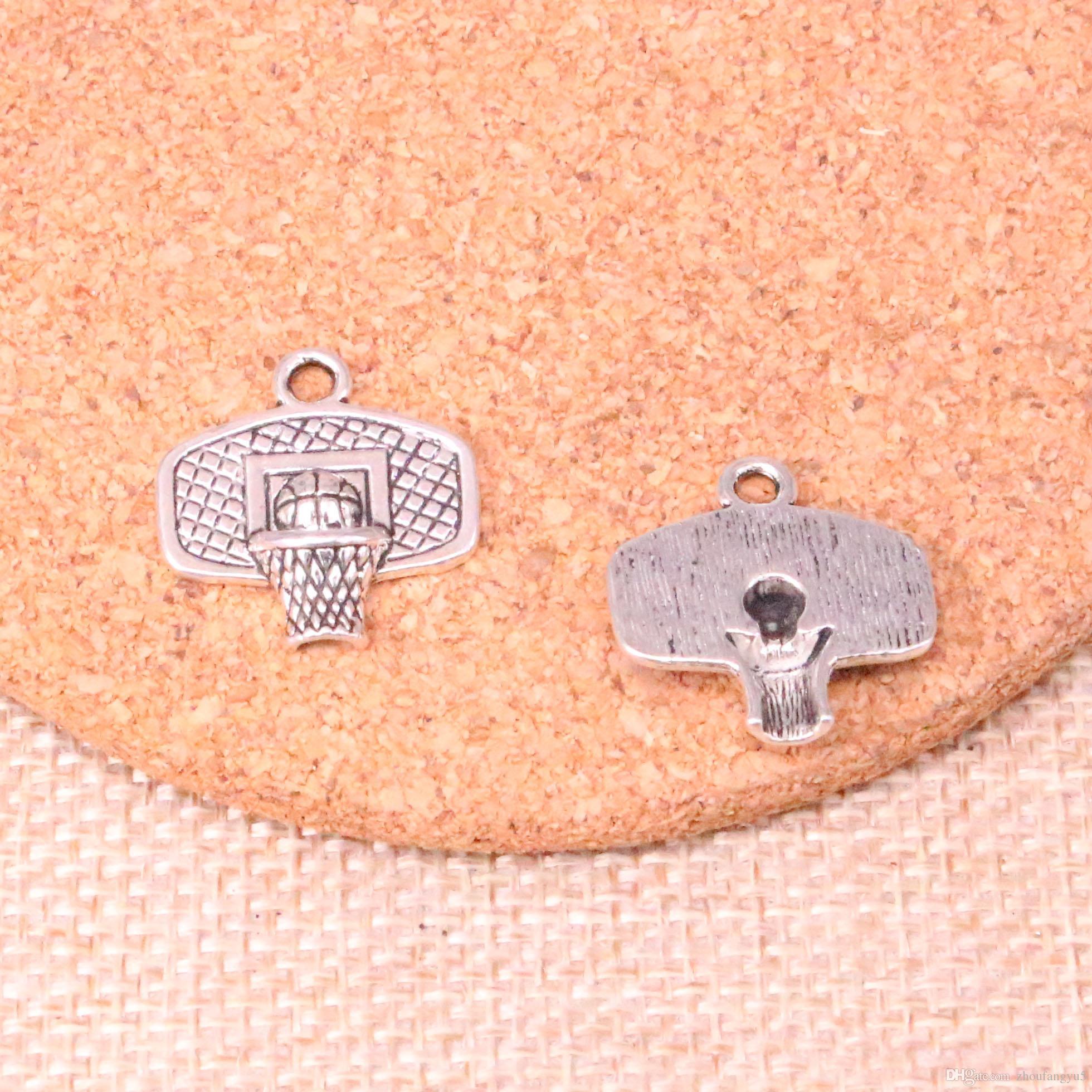 67pcs Charme Basketballkorb 20 * 19mm Antike, die Anhänger fit, Jahrgang Tibetischen Silber, DIY Handgemachter Schmuck