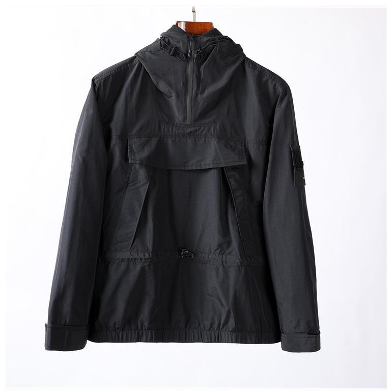Topstoney 2020SS جديد الموضة الربيع والخريف نصف مقنعين جيب الرمز البريدي الشباب konng gonng الأوروبية والأمريكية نمط الترفيه سترة الرجال