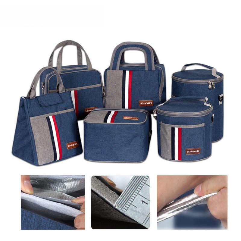 Portable pranzo sacchetto di scuola delle donne per il rimessaggio di Bento Box Bag termica Tote del dispositivo di raffreddamento del contenitore di isolamento pacchetto