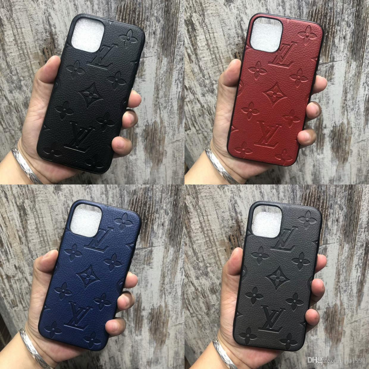 Luxury Phone Case For iPhone X Xs Max XR 8/7/6 Plus Phone Case Back Cover Monogram Branding for iPhone 11 Pro Max Mobile Shell