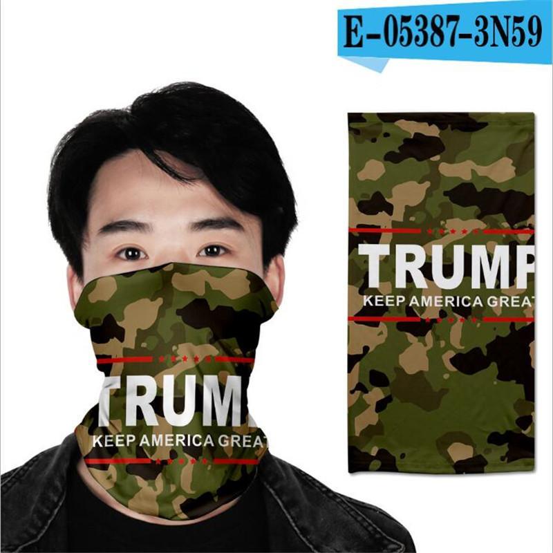 Hip Hop Donald Trump 3D bandanas Sihirli Başörtüsü Mutil Amaç Açık Binme Yüz Maskeleri Tüp Boyun Türban Spor Bandana yazdır